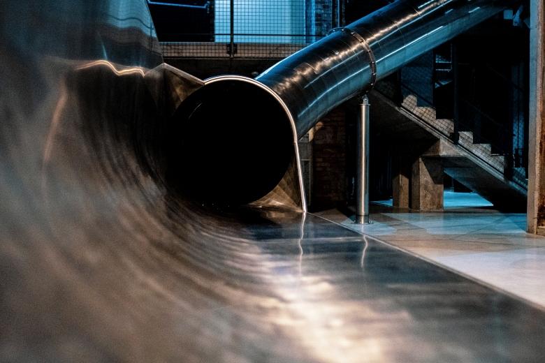 black hole slide exit